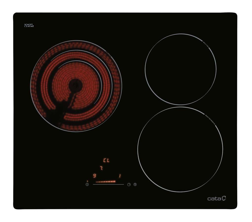 Placas placas de inducci n cata electrodom sticos - Placa induccion blanca ...